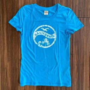 Hollister California Blue T Shirt size Medium